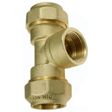 Tes rosca hembra Fittings 20 * 1/2""